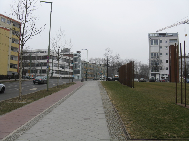 Bernauer Strasse looking toward Strelitzer Strasse