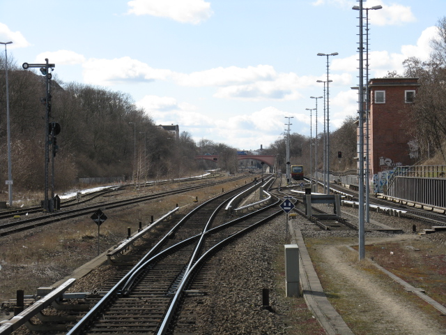 View west from Hermannstrasse S-Bahn station