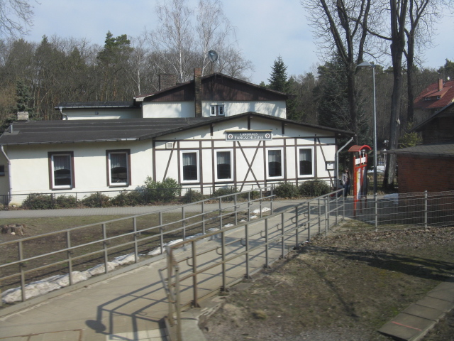 Pub/restaurant at the entrance to Fangschleuse station