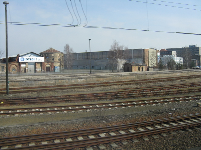 Railway yard and buildings on Julius-Pinsch-Ring