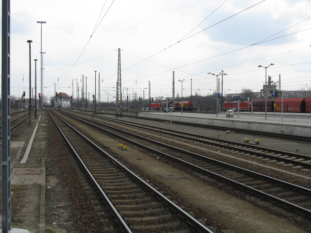 View south from Frankfurt (Oder) station