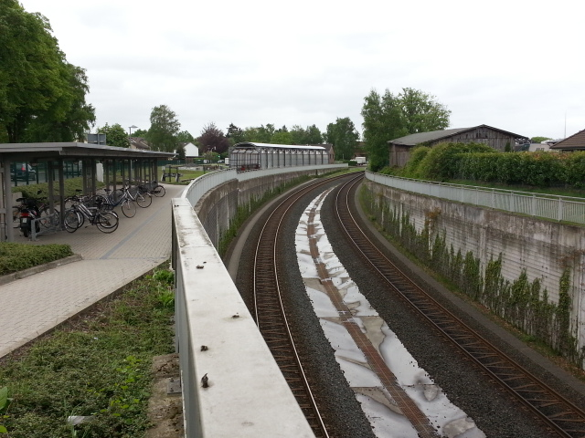 Southern approach to Kaltenkirchen station
