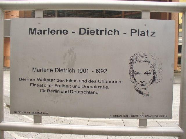 Marlene Dietrich Platz 5 Berlin