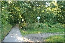 Weg entlang der deutsch-niederländischen Grenze