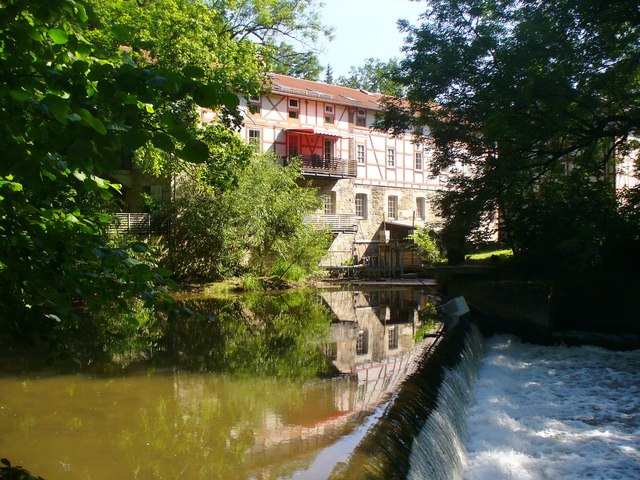 Weimar - Wehr am Ilm (Weir on the River Ilm)
