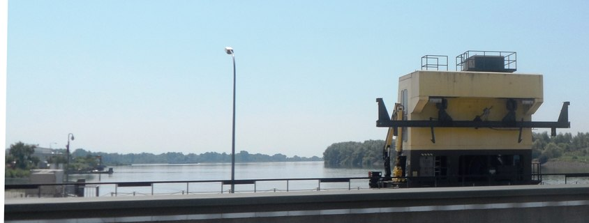 The Rhine River from the road crossing