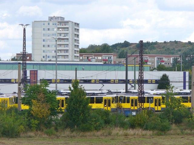 Berlin Marzahn Betriebsbahnhof Tram Depot Mgrs