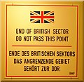 UUU8213 : End of British Sector von Colin Smith