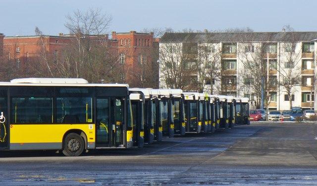 Berlin Spandau Bvg Betriebsbahnhof Bus Depot Mgrs