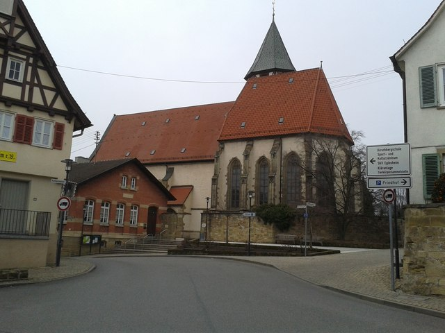 ludwigsburg eglosheim katharinenkirche mgrs 32unv1217 geograph deutschland. Black Bedroom Furniture Sets. Home Design Ideas