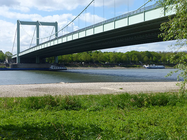 Autobahn bridge over the River Rhine