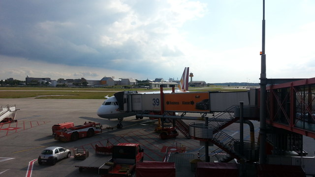 View from gate A39, Hamburg Airport