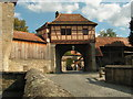 UNV8570 : Der Zwingerbereich beim Rödertor in Rothenburg by Günter G