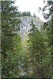 Felswand über der weißen Valepp