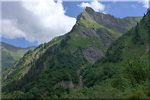 Himmelhorn mit Rädlergrat vom Stuibenfall gesehen