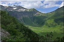 Die Käseralpe vom Weg zur Wildenfeldhütte aus gesehen