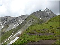 Blick vom Himmelecksattel zum Nordgrat und Nordgipfel des Großen Wilden
