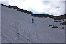 Großer Wilder: Schneefeld unter dem Südgipfel