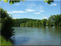 Der Neckar beim Gewerbegebiet Schießtal