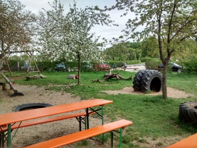 Spielplatz Bei Biergarten Des Atzelsberger Mgrs 32upv4799 Geograph Deutschland