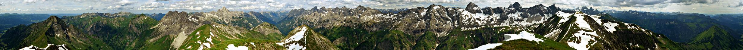 Rauheck (Rauhegg): Gipfel-Panorama