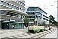 UUU3408 : Strassenbahnendhaltestelle, Brandenburg a d Havel Hbf, 2015 (Tramway terminus, Brandenburg Station, 2015) von Alan Murray-Rust