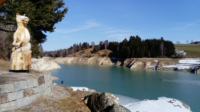 Winterlicher Forggensee