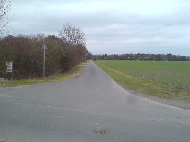Fahrweg am Hof Hartmann nach Nordosten (Rural road near Hartmann's farm, northeastward)
