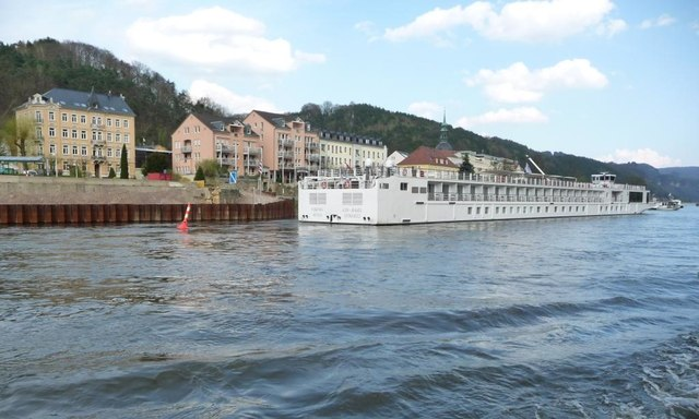 Bad Schandau: Viking Beyla vertäut in Bad Schandau