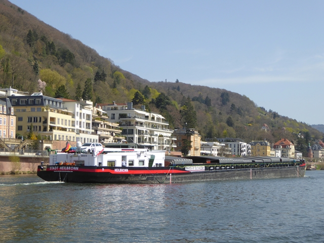 Barge on the River Neckar