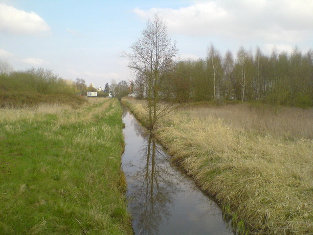 Graben am Rand von Lehrte (Ditch at the edge of Lehrte)