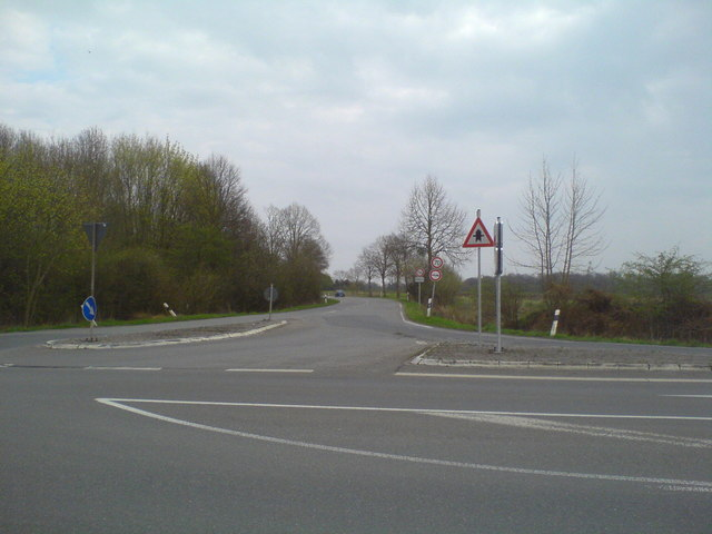 Steinwedeler Straße Richtung Ramhorst von der K134 (Steinwedler Strasse towards Ramhorst from district road K134)