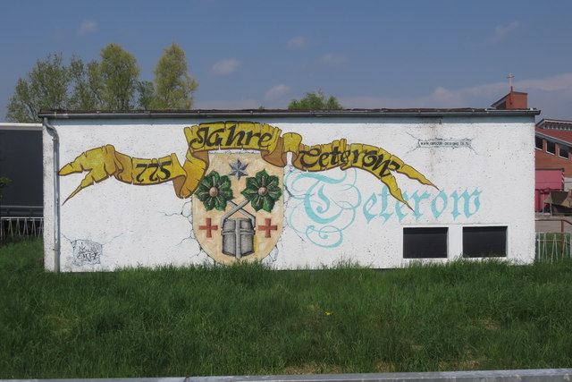 Celebratory mural, Teterow station yard