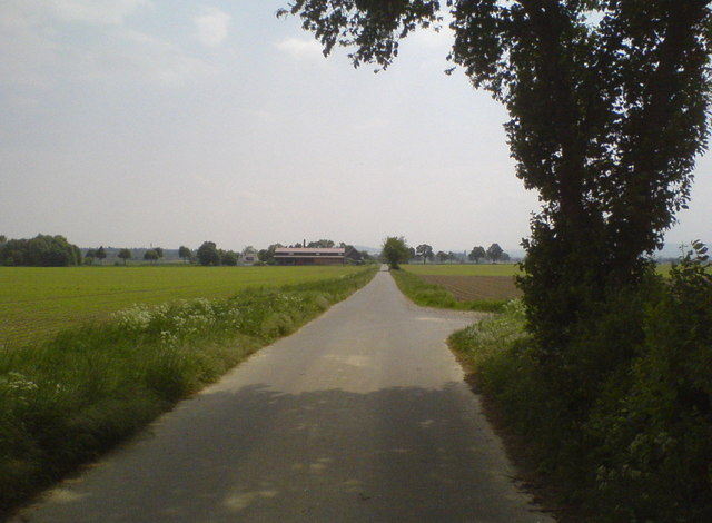 Fahrweg zur B65 (Rural road towards federal road B65)