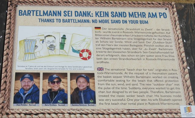 Bartelmann sie Danke: Kein Sand Mehr am Po (Thanks to Bartelmann: no more sand on your bum)