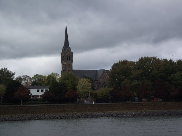 St Evergislus kirche from the Rhine