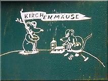 "Wegweiser zu den ""Kirchenmäusen"", Worpswede"