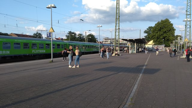 Buchholz station with Flixtrain service