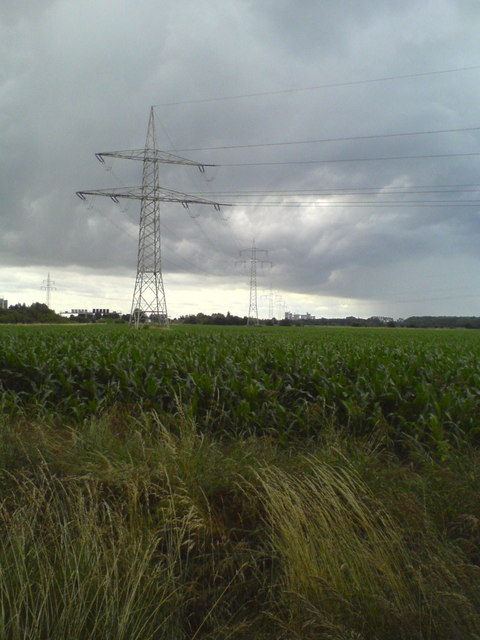 Hochspannungsleitung nach Anderten (Power lines towards Anderten)