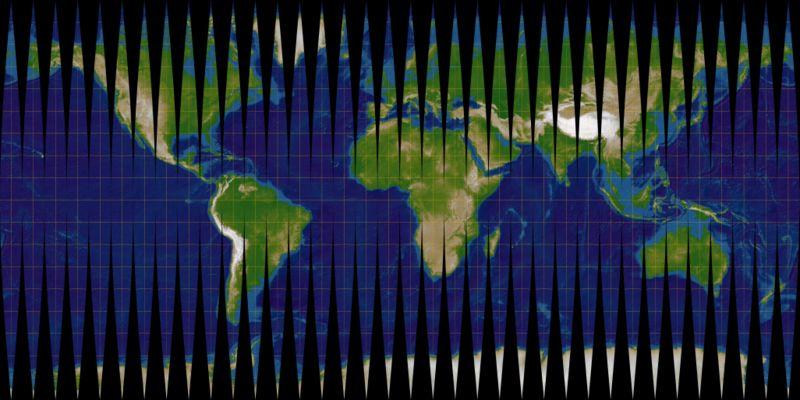 Transversale Mercator-Projektion. 10-Grad-Meridianstreifen