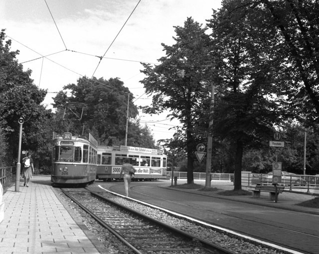 Tram on Route 20 in Munich
