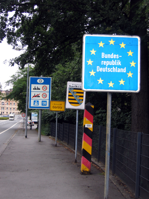Entering Görlitz from Zgorzelec, Poland