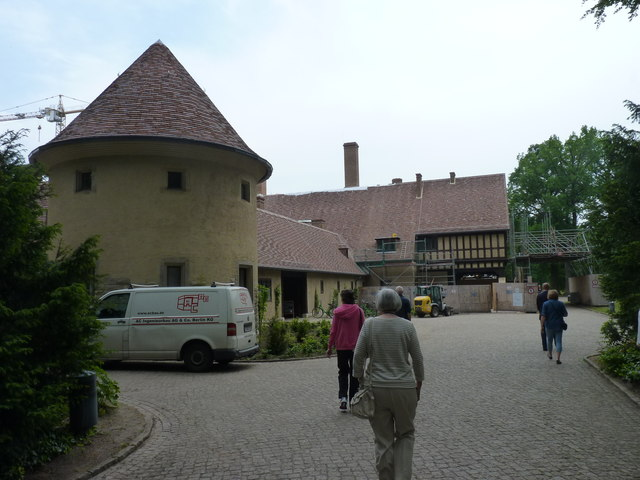 Eingang Schloss Cecilienhof (Entrance to Cecilienhof palace)