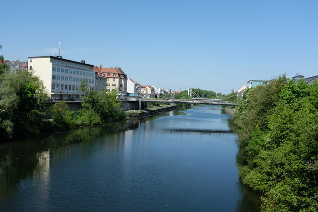 Blick auf den Main-Donau Kanal (Looking along the Main-Donau Canal)
