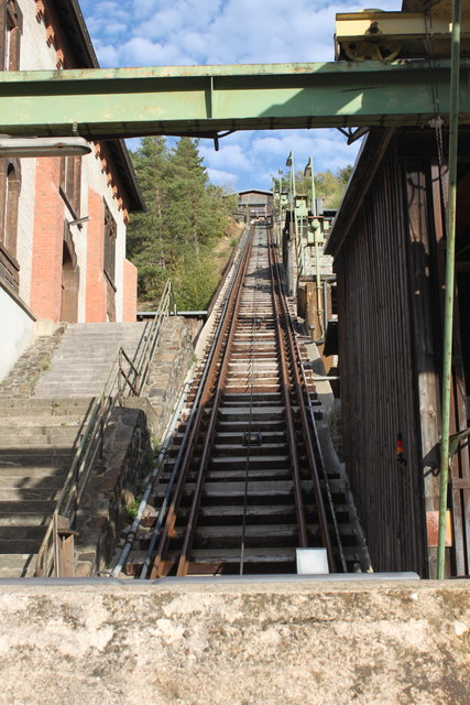 Schrägaufzug am Rammelsberg (Rope-hauled incline on Rammelsberg)